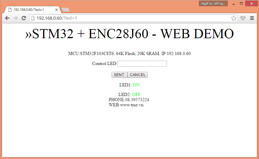 STM32-ETH (STM32 Ethernet Board) - www tme vn - Linh kien dien tu