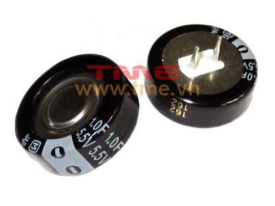 1 Farad 5.5V Super Capacitor, Size 21.5 x 8.0 mm